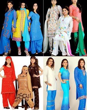 A selection of Shalwaar Kameez